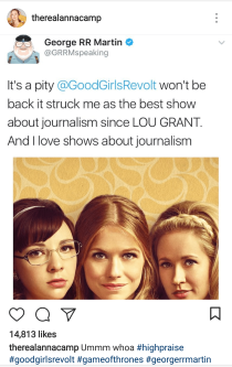 Good Girls Revolt Tweet